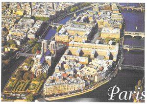 Scan of a postcard of Place de L' Opéra et Fontaine, Lyon (Rhône)