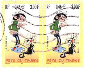 Gaston La Gaffe, héros d' une bande dessinée comique, publiée dans le magazine Spirou (dessinateur belge: André Franquin)
