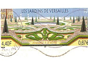 View of the Gardens of the Palace of Versailles (landscape architect Le Nôtre) year of the transition between the Franc and the Euro (2001)